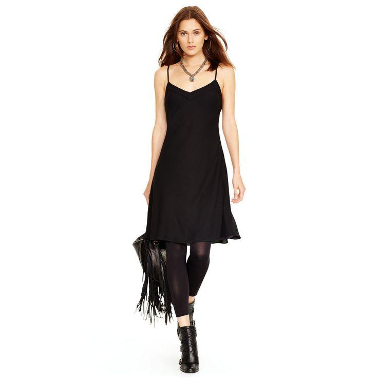 Silk V-Neck Slip Dress - Short Dresses  Dresses - RalphLauren.com