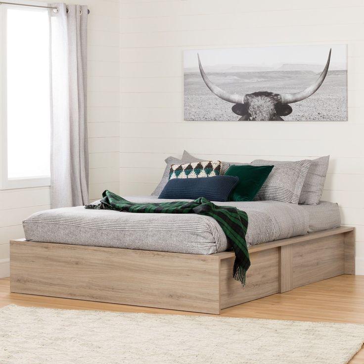 South Shore Fusion Ottoman storage bed