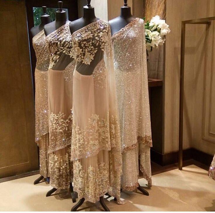 Manish Malhotra Brides # cocktail look # evergreen saree # perfect look
