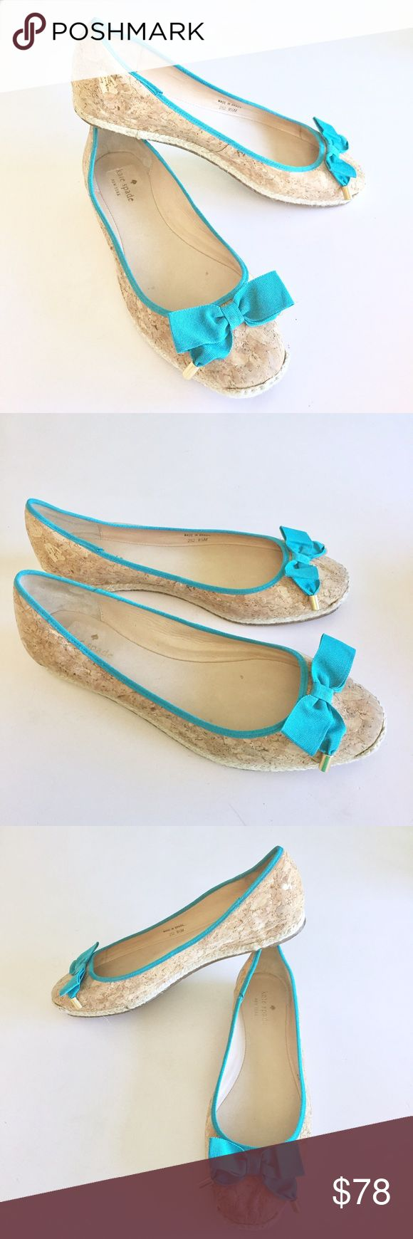 Kate Spade Cork Espadrille Flats Up for sale in great preowned condition pair of Kate Spade Cork Flats Size 9.5. Please see photos for details. Check out my closet, bundle and give me your offer!  #ba003 kate spade Shoes Espadrilles