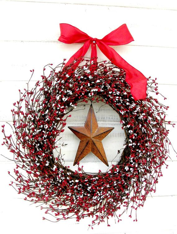 Star Wreath.....Great for the HOLIDAY Season!! This Rustic Grapevine ...