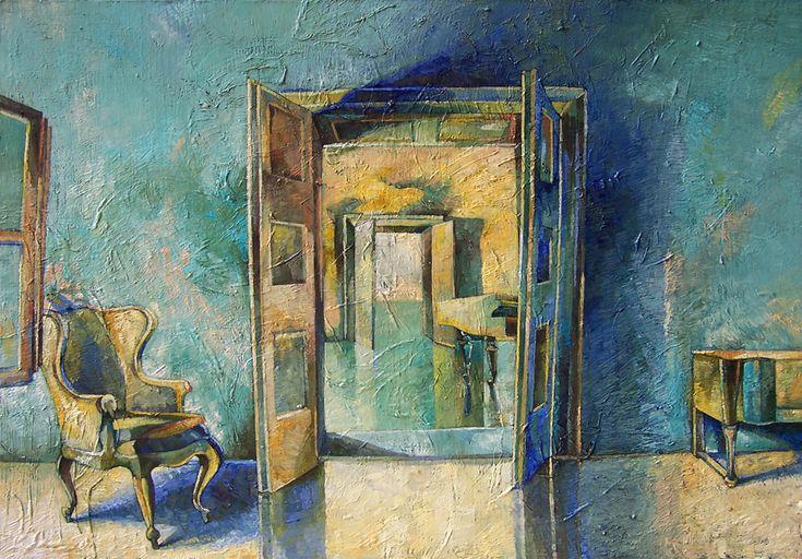 Papageorgiu Andrea  'Home in the void'  2013  Oil on fiberboard