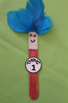 Spark and All - Dr. Seuss' Thing 1 and Thing 2 Bookmarks