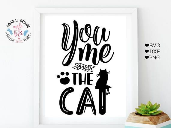 You, Me and the Cat Pet Cut File available in SVG, DXF and PNG.