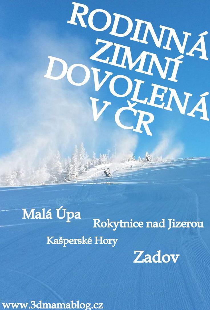 Lyžování s dětmi v ČR, aneb tipy na zimní dovolenou u nás doma. #děti #rodina #lyžování #zima #dovolená #lyže #3dmámablog.cz