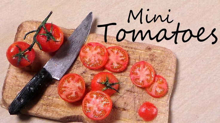 Miniature Tomatoes - Polymer Clay Tutorial