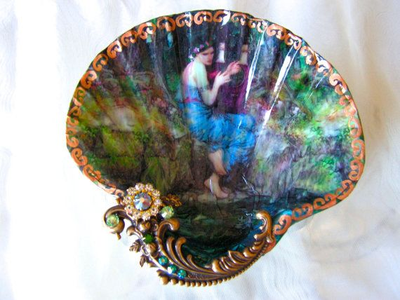 The Goddess Of Nature Large Shell Jewelry Dish by rtistmary, $24.00