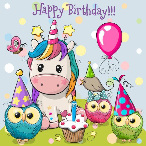joyeux anniversaire licorne