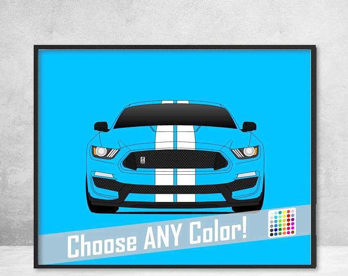 Ford Mustang Gt 2005 2009 Poster Print Mustang S197 Wall Etsy Custom Cars Ford Mustang Gt Poster Prints