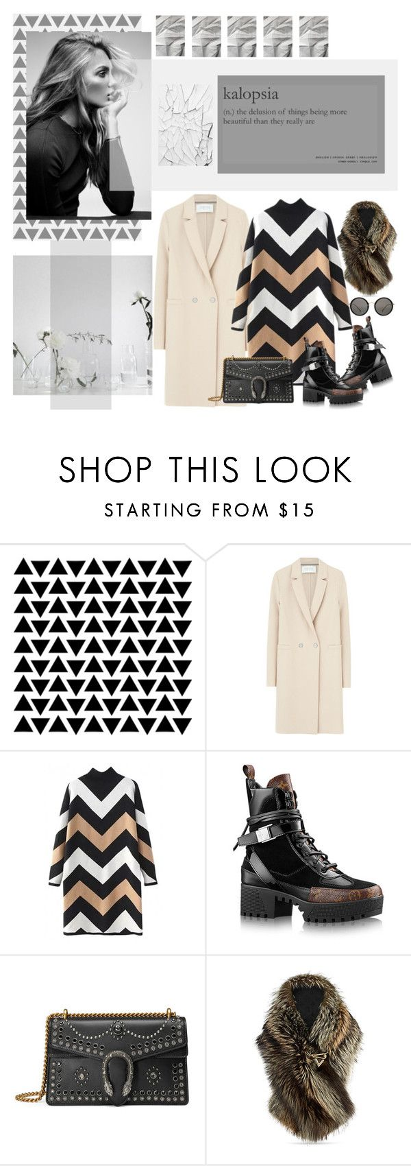 """""""kalopsia"""" by mariettamyan ❤ liked on Polyvore featuring Harris Wharf London, WithChic, Gucci and Linda Farrow"""