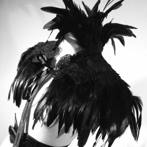 EVIL TWIN - Gothic Victorian Steampunk Feather Cape