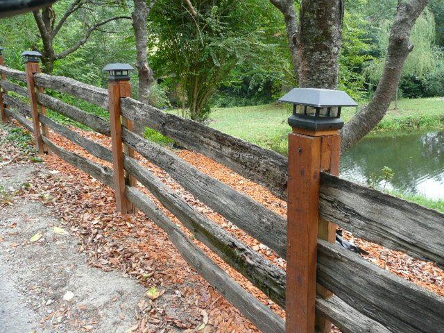 Dressed up split rail fence