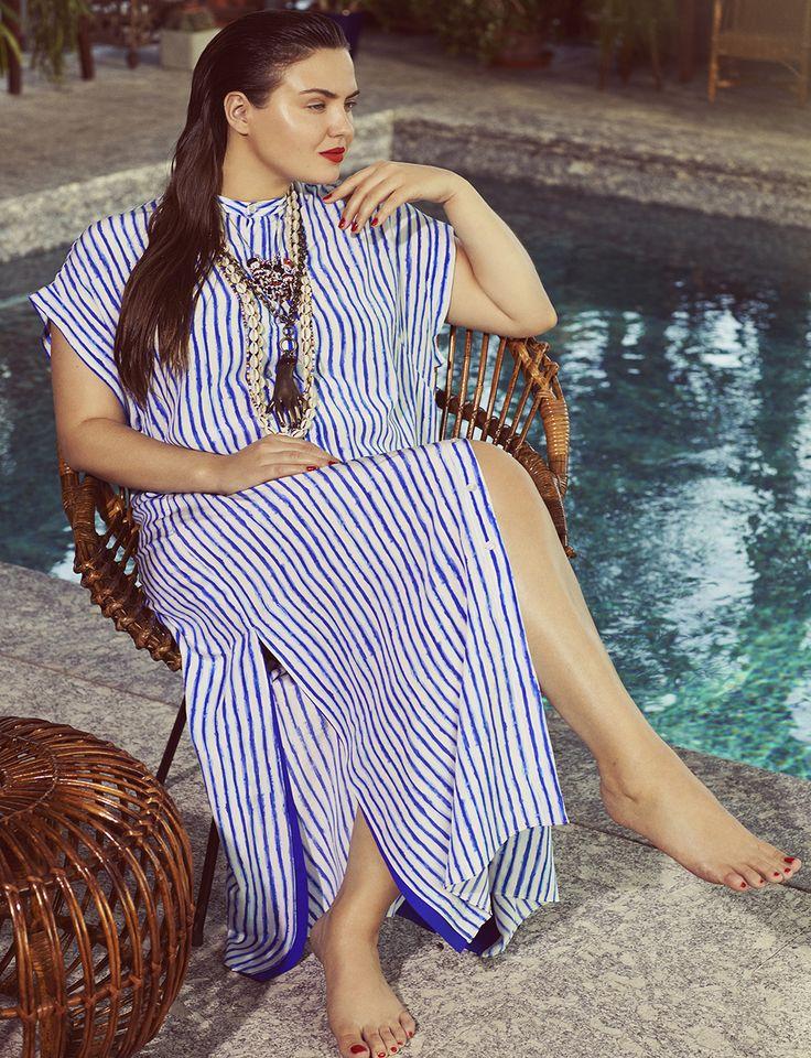 Silk Stripe Tunic | Teresa for ELOQUII | Plus Size Fashion