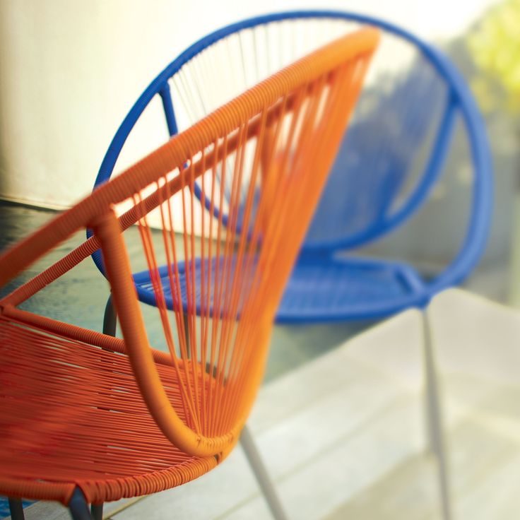 fauteuil scoubidou esprit r tro plusieurs coloris disponibles mahonia chaises tables et. Black Bedroom Furniture Sets. Home Design Ideas