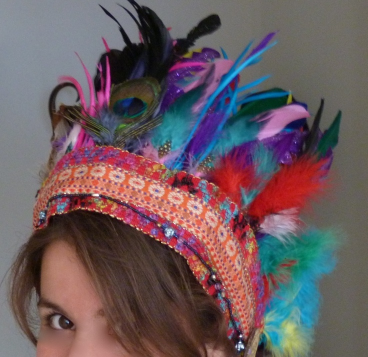 Crafting a feather headdress