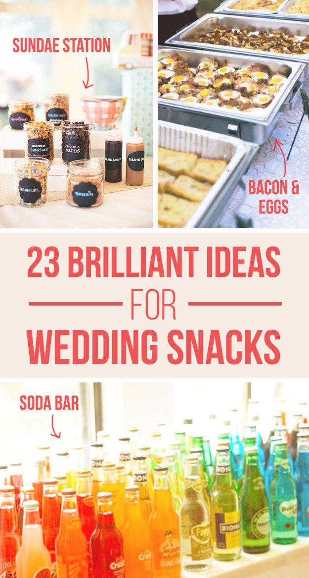 23 Brilliant Wedding Bars From Couples Who Dared To Dream. You could serve a pristine 7-layer wedding cake ORRR you could serve whiskey and Choco Tacos. Either way, we are wishing we had an invite:https://www.buzzfeed.com/melissaharrison/invite-me-to-your-in-n-out-wedding?utm_term=.sjRMy8m2j#.anYpymgAE