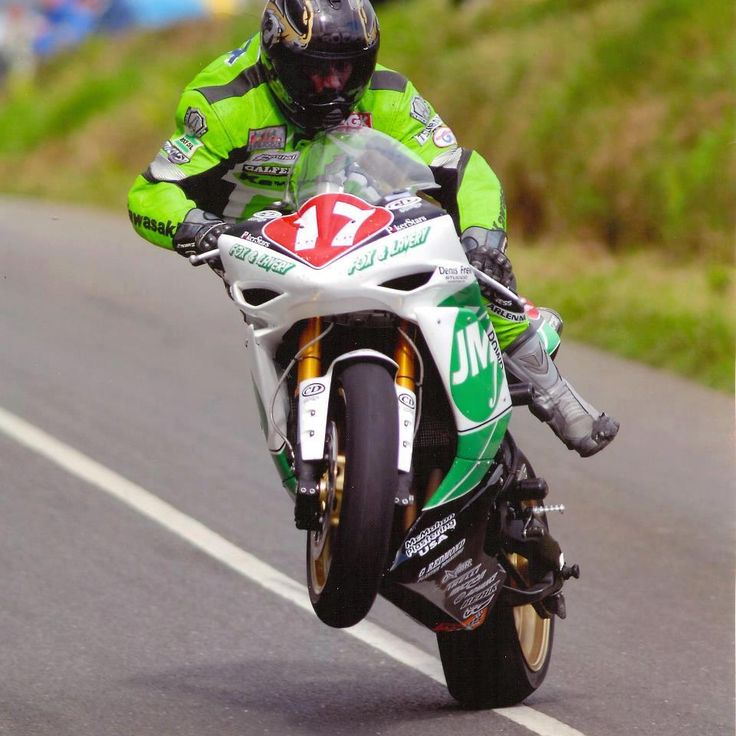 Happy 2WheelTuesday.  This is how you race bikes.  Land a jump all crossed up and never let off the gas (Isle of Man TT)