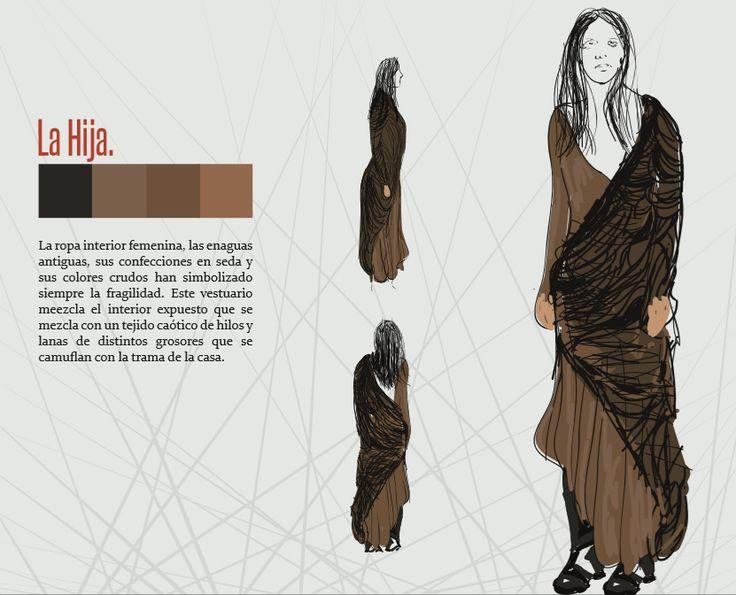 Boceto vestuario personaje: Hija