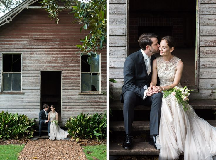 Gabbinbar Homestead Toowoomba. So many great wedding photo locations around the property, like the old school house pictured here.  Photo : Brisbane wedding photographer, Deb Boots Love Stories www.debboots.com.au