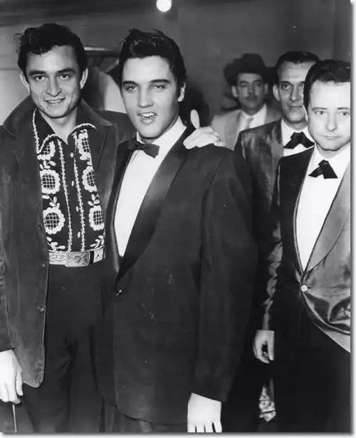 Elvis and Johnny Cash, - uncropped picture -