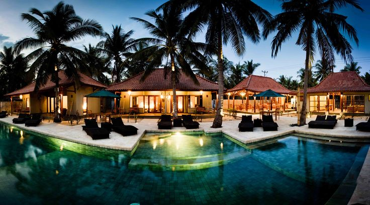 Quiet resort located just a short stroll from Gili Trawangan's famed sunset beach.