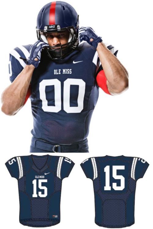 Men 159109: Nike Victory Formation Ole Miss Rebels Football Jersey 397345 Size Large College -> BUY IT NOW ONLY: $54.99 on eBay!