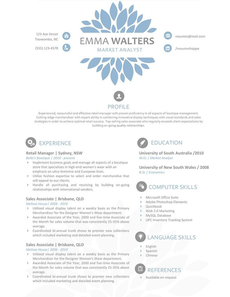 27 Best Resumes Images On Pinterest | Resume Design, Resume