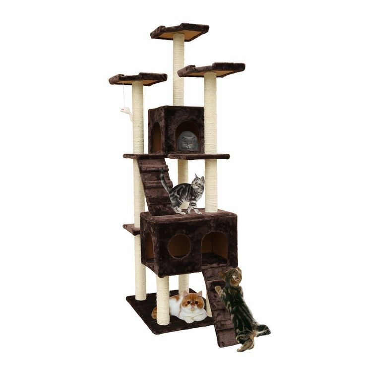 72-Inch Cat Tree cat Play Tower Condo by Outdoor Sunshine -- See this awesome image  : Cat Beds and Furniture