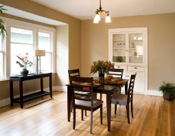 Simple Clean Lines In This Neutral Dining Room