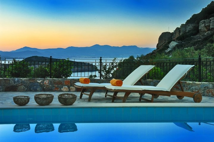 In a beneficial location looking out to sea above a secluded beach ... our Istron Collection Villas!  www.crete-hotels-...