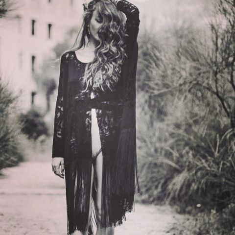 """""""Hecate"""" poncho with a deep slit at front by Nidodileda #lace #black #nidodileda #bohemian"""