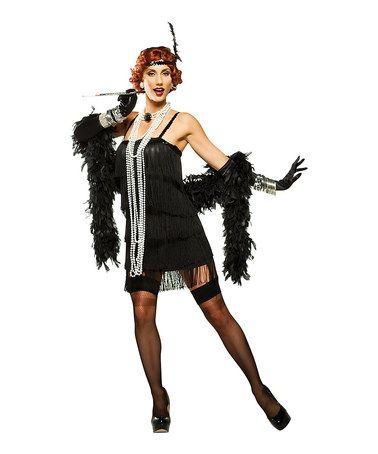 black flapper girl dress up set women zulily zulilyfinds - Halloween Girl Dress Up