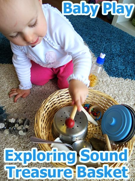 Post image for Activities for Babies: Exploring Sound Treasure Basket