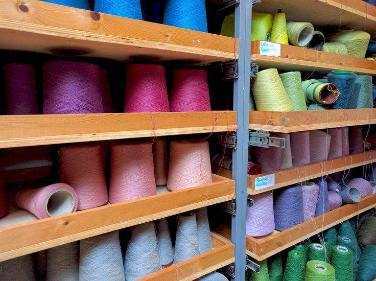 Shelves of options | McKernan Woollen Mills | Irish Handmade Scarves | Made in Ireland | Irish Design | Weaving | Knitting | Womens Accessories