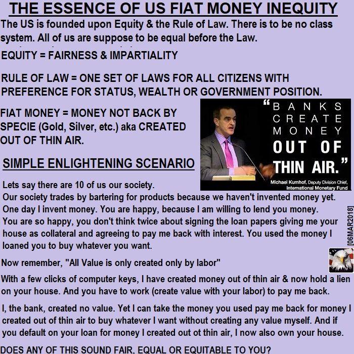 The Essence of Fiat Money Inequity #FED #Bank #UMN @UMNews @RandPaul #Boomers #GenX #Millennials #Teen #GenZ #College #HighSchool #FFA #HomeSchool #TEAParty @GOP @MNGOP @CRNC @YAF #PJNET @TPUSA #LGBTQ @theDemocrats @msaUMN @ConcordiaSGA  @mnwomenscenter #BlackLivesMatter #Oscars Don Mashak Cynical Patriot