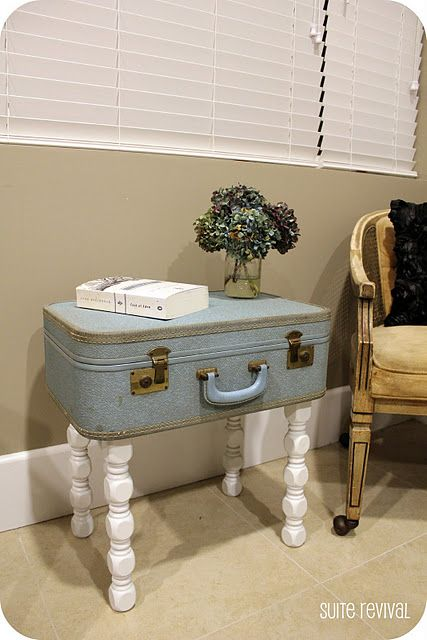 Best 25  Vintage suitcase table ideas on Pinterest | Suitcase ...