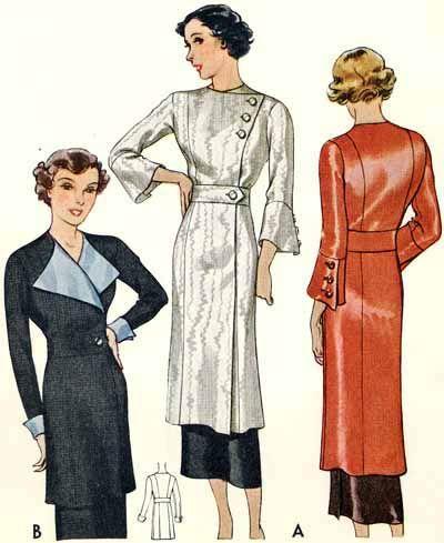 McCall 8081   1934 Ladies' & Misses' Tunic Blouse
