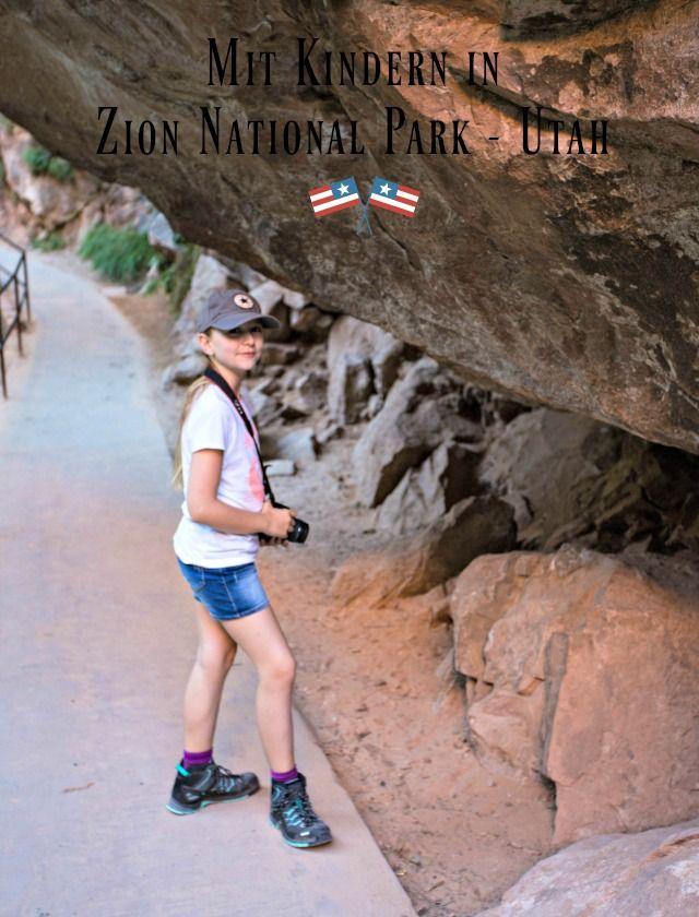 Unterwegs Mit Kinder Im Zion National Park