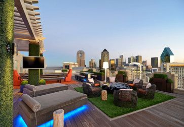 Private Residence - Modern Rooftop Garden - modern - patio - dallas - Harold Leidner Landscape Architects