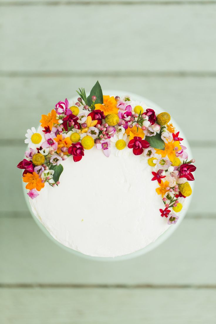 Use edible flowers to decorate a cake!