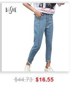 Bishe Denim джинсы бойфренды для женщин штаны шаровары женские плавки синий плюс размер 2XL свободные женские брюки Высокая талия джинсы женские купить на AliExpress