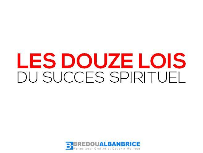 Les Douze Lois du Succès Spirituel