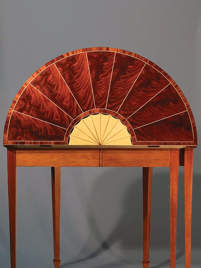 By Rob Kutner San Francisco Calif This Federal Style Demilune Is S Interpretation Of A Reproduction Ohio Furniture Maker Millard