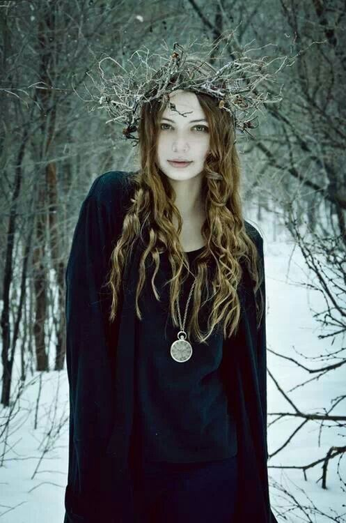 Celtic forest girl