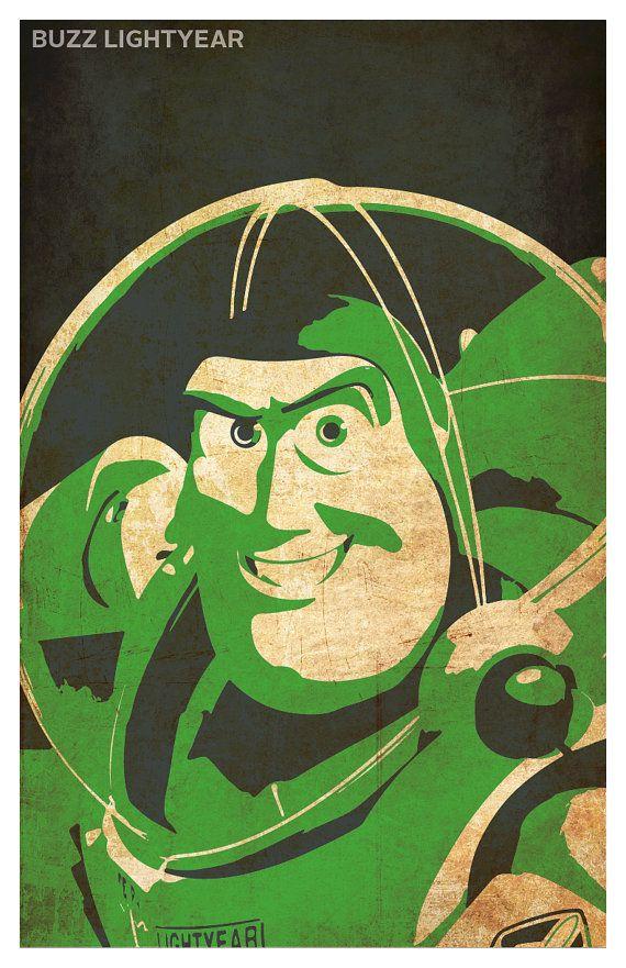 Toy Story minimalistic poster set 11 x 17 WoodyBuzz by PosterForum