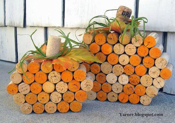 Wine Cork Pumpkins - 30  Creative Halloween Ideas  <3 <3