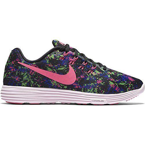 Nike Womens Lunartempo 2 Print BlackConcordElectric GreenPink Blast Size 65  >
