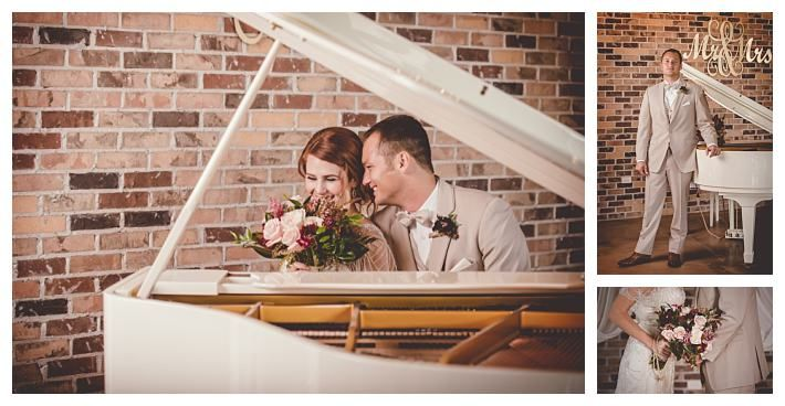 Bride and groom at the Grand View with a grey tuxedo   The Penelope by Jasmine Bridal   Gateway Bridal & Prom   SLC   Utah   Fall   Autumn Wedding Inspiration   Lindsey Black Photography   Gold   Woodsy   Earthy   Burgundy   Grand View Reception Center