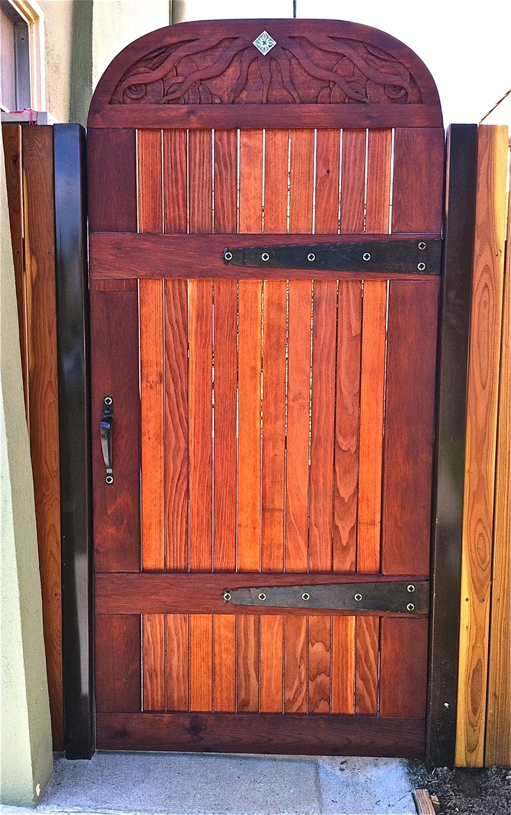 17 Best Images About Redwood Gates On Pinterest Wooden