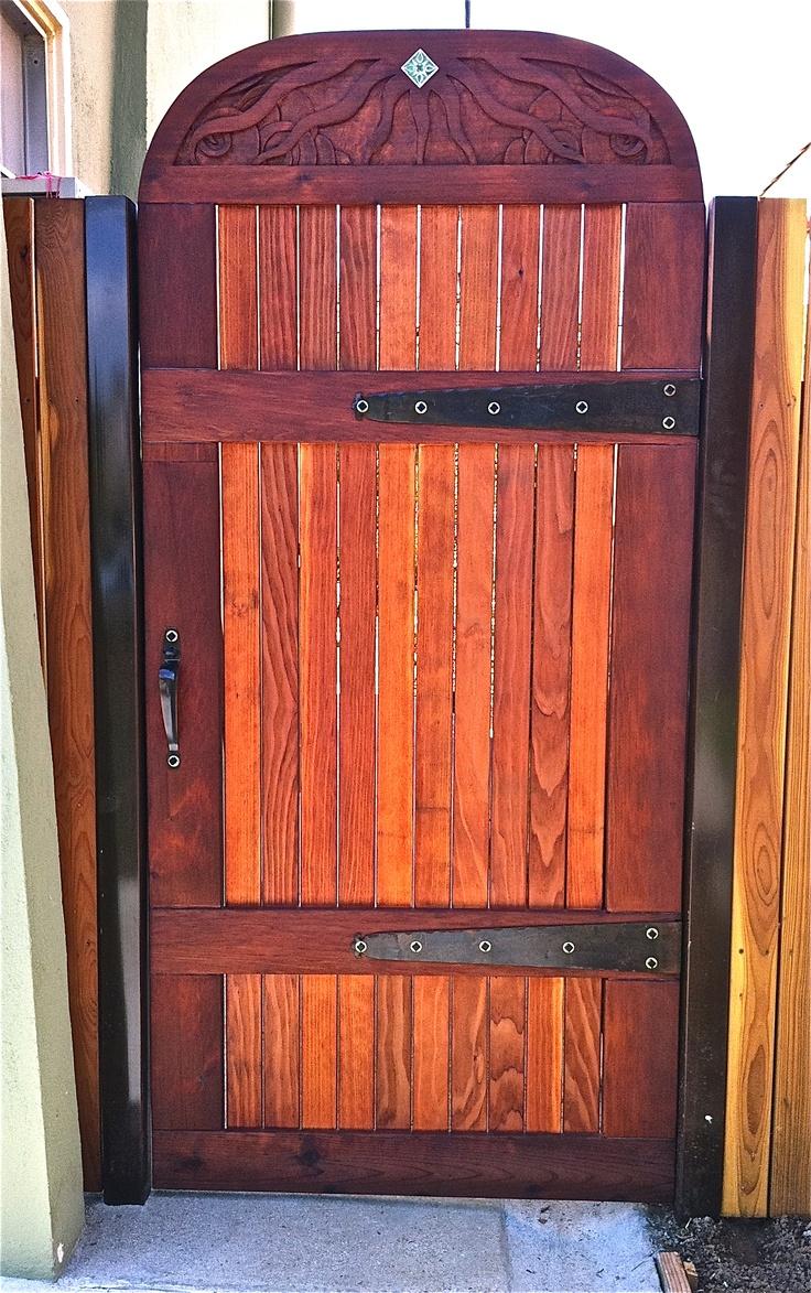 Home Design Gate Ideas: 17 Best Images About Redwood Gates On Pinterest